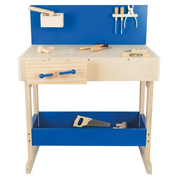 Kinderwerkbank mit echtem Werkzeug
