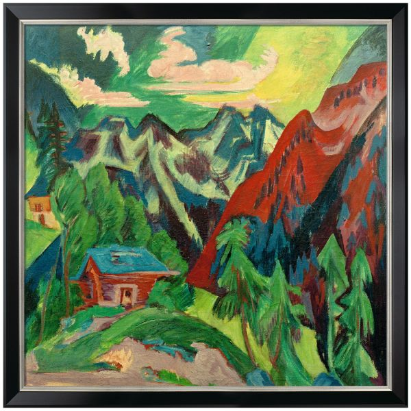 Kirchner, Ernst Ludwig: »Die Klosterser Berge«, 1923