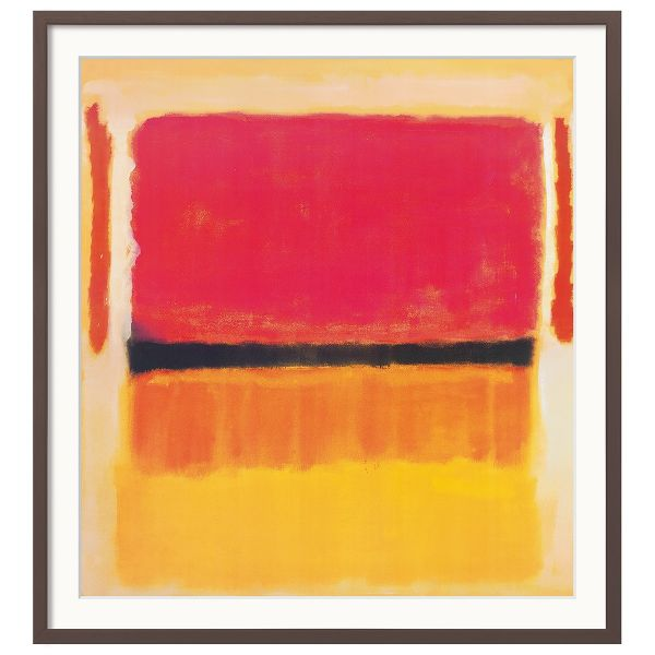 Rothko, Mark: »Untitled (Violet, Black, Orange, Yellow on White and Red)«