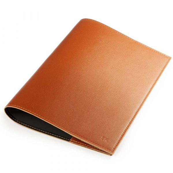 A5-Buchhülle und Notizbuch, brandy