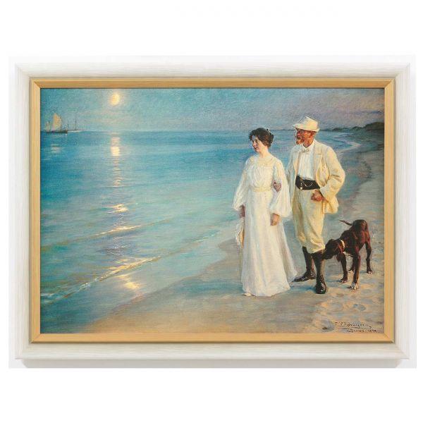 Kroyer, Peder Severin: »Sommerabend bei Skagen - Der Künstler und seine Frau«, 1899