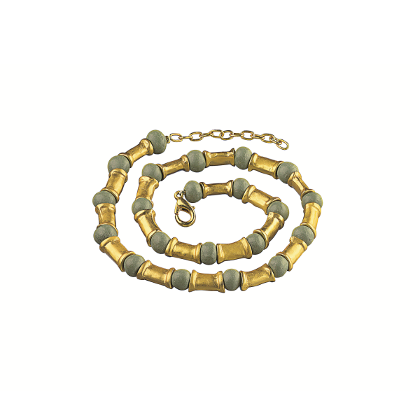 Collier mit grünen Perlen