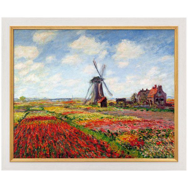 Monet, Claude: »Champs de tulipes en Hollande - Tulpenfeld in Holland«,1872