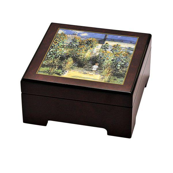 Musik-Schmuckbox: »Le Jardin de Monet à Vétheuil«, nach Claude Monet