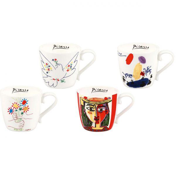 4-teiliges Becherset nach Pablo Picasso