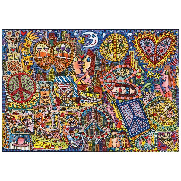 Rizzi, James: Teppich »Give Peace a Chance«