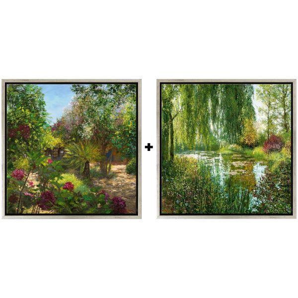 Cubaynes, Jean-Claude: »Giverny le soir« und »Le Jardin, St. Tropez« im Set