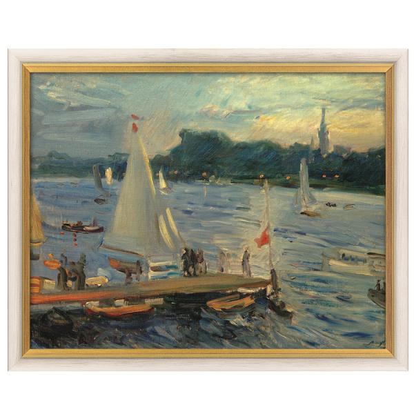 Slevogt, Max : »Segelboote auf der Alster am Abend«, 1905