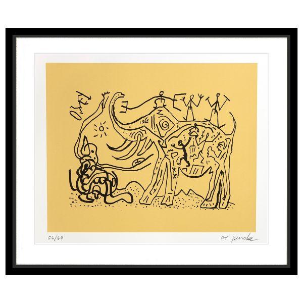 Penck, A.R.: »Elefant mit Figuren«, ca. 1990