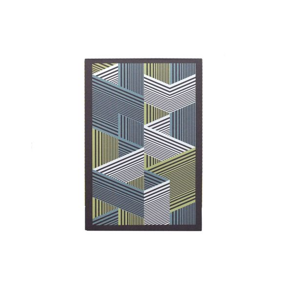 Männergeschenkset: Einstecktuch & Notizblock »Labyrinth«