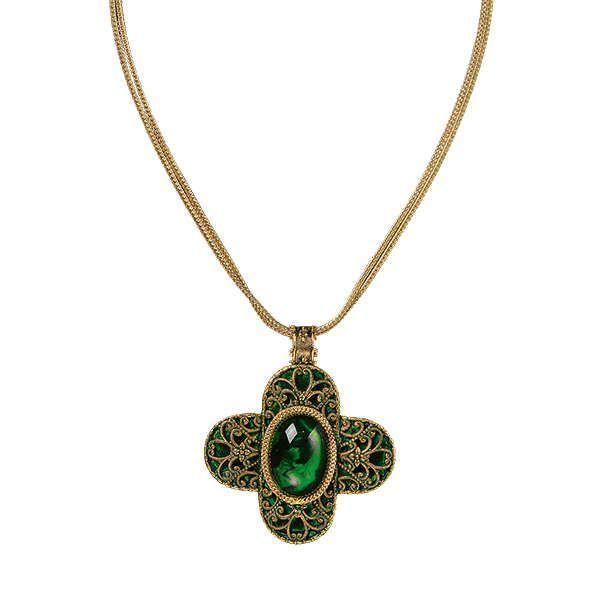 Waszak, Petra: Collier »Verde Escuro«