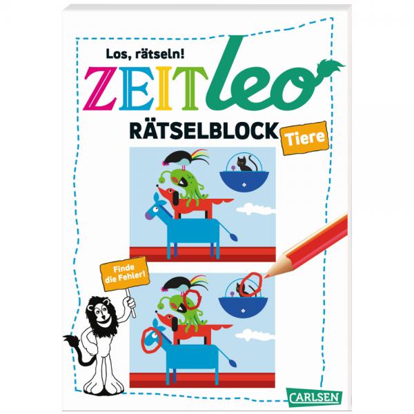 """ZEIT Leo: Rätselblock """"Tiere"""""""