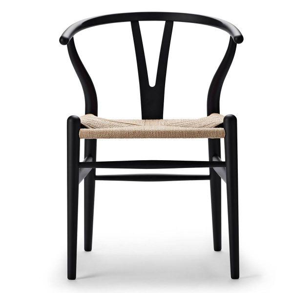 Sonderedition »Stuhl CH 24 Soft« von Carl Hansen Schwarz