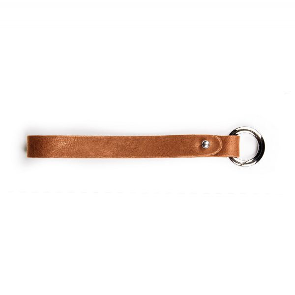 Schlüsselband aus Leder Cognac