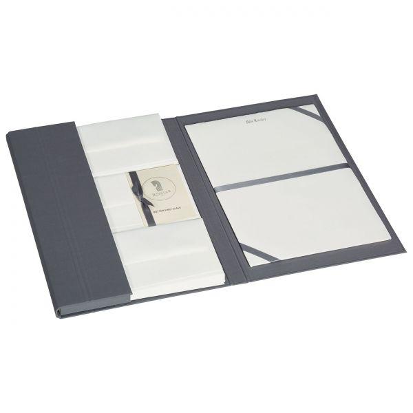 Briefpapiermappe mit edlem Büttenpapier