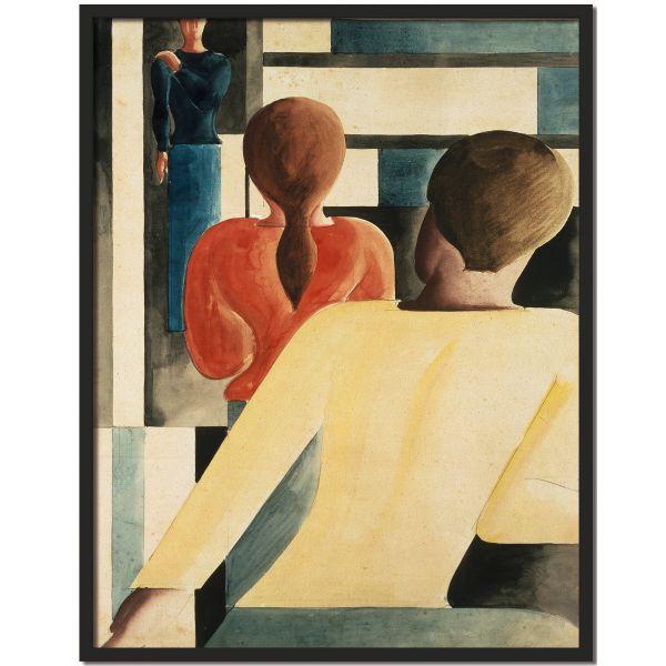 »Interieur in Blau, Gelb und Rot«, 1931 von Oskar Schlemmer