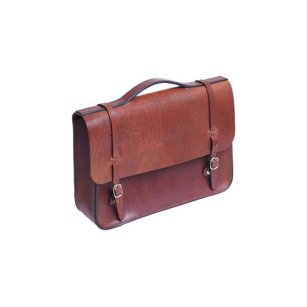 Fahrrad-Gepäcktasche Akte XL, braun