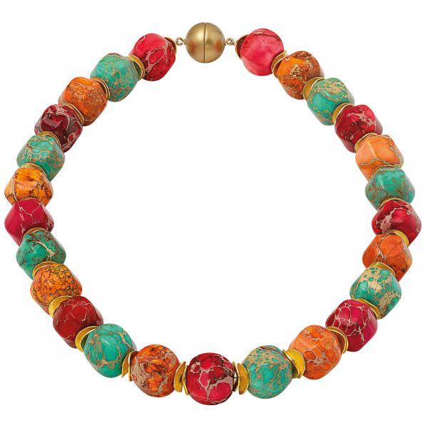 Perlencollier »Farbenfantasie«