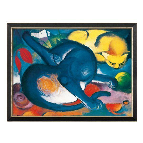 Marc, Franz: »Zwei Katzen, Blau und Gelb«