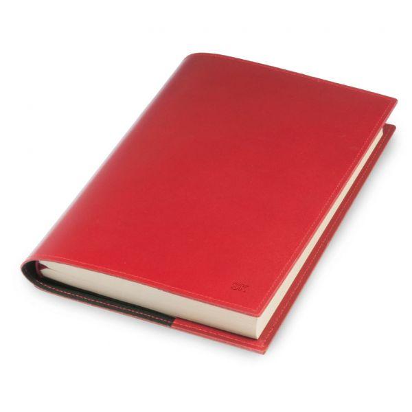 A5-Buchhülle und Notizbuch, rot