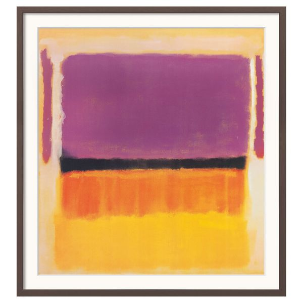 Rothko, Mark: »Untitled (Violet, Black, Orange, Yellow on White and Red)«, 1949