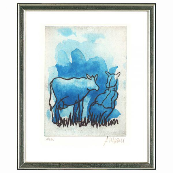 Mueller-Stahl, Armin: »Blaue Kuh auf der Weide«, 2017