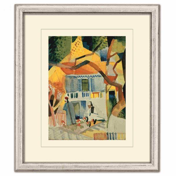 Macke, August: »Innenhof des Landhauses in St. Germain«, 1914