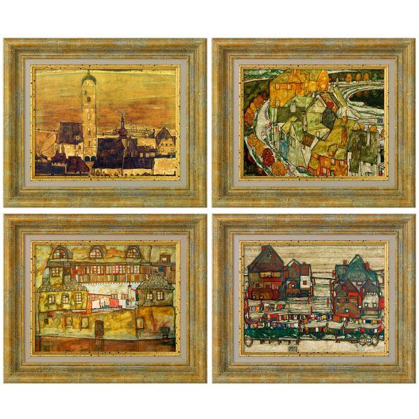 Schiele, Egon: Vier Bilder im Set, 1913-15