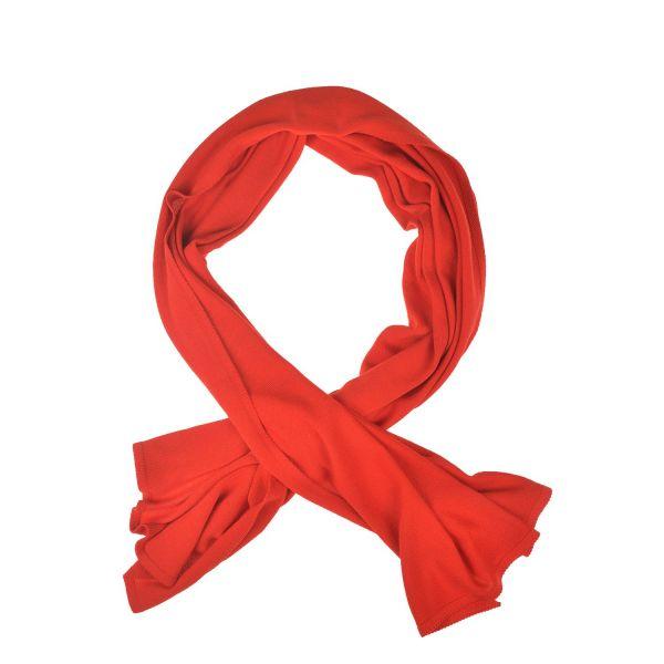Schal aus 100% extrafeiner Merinowolle Rot