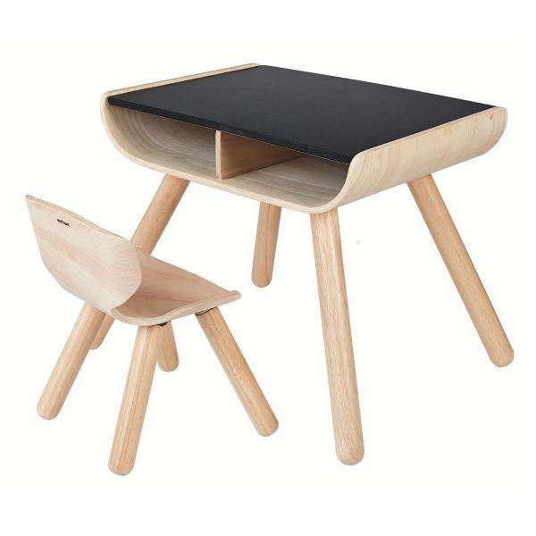 Tisch mit Stuhl schwarz