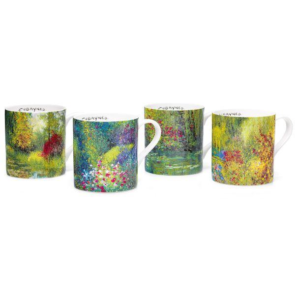 4 Kaffeebecher im Set, von Jean-Claude Cubaynes