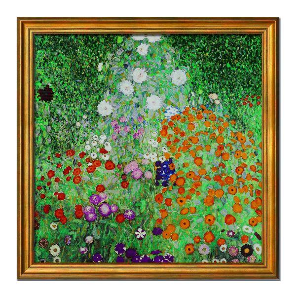 Gustav Klimt: Bild »Blumengarten«, gerahmt