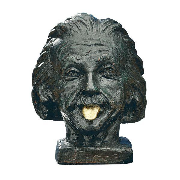 Nemecek, J.: »Einstein-Kopf mit goldener Zunge«