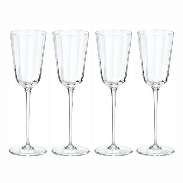 ZEIT-Glasserie von Freiherr von Poschinger Glasmanufaktur, 16-teilig Weißweingläser für DIE ZEIT, 4-teilig