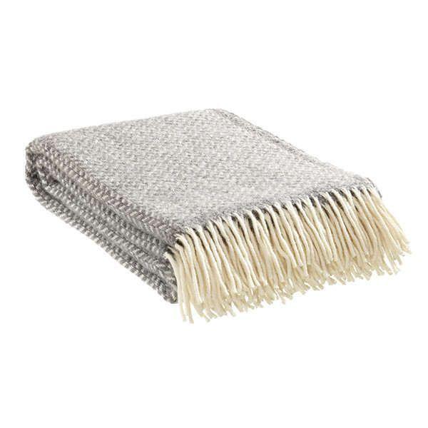 Decke »Polka« aus 100% Lammwolle Grau