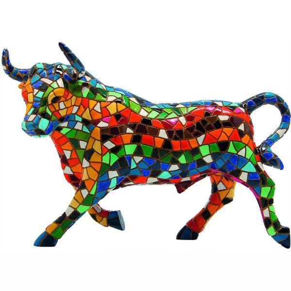 Trencadís-Mosaikfigur »El Toro Mosaico«