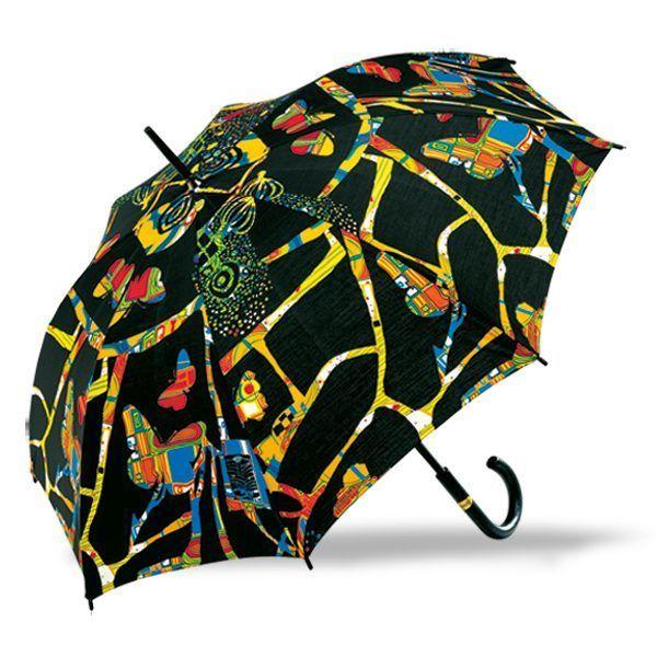 Regenschirm »Dunkelbunt«, nach Friedensreich Hundertwasser