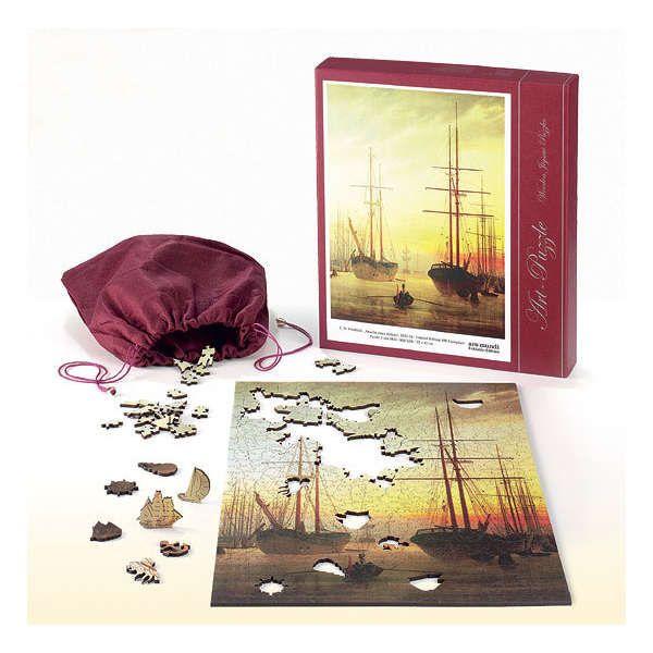 Puzzle Ansicht eines Hafens«, 1815/16, nach Caspar David Friedrich