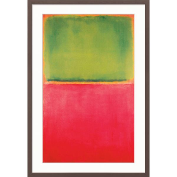 Rothko, Mark: »Green, Red on Orange«
