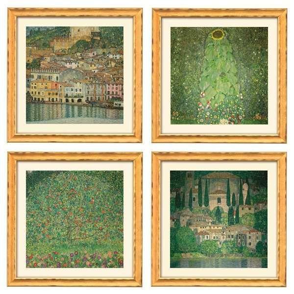 Klimt, Gustav: Vier Landschaftsbilder im Set