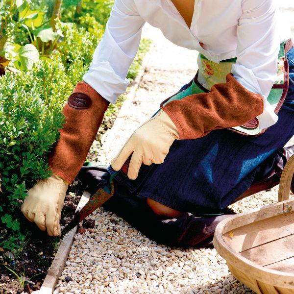 Gartenhandschuhe mit Lederstulpe