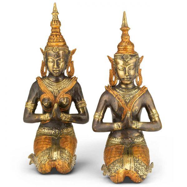 Thailändisches Tempelwächterpaar