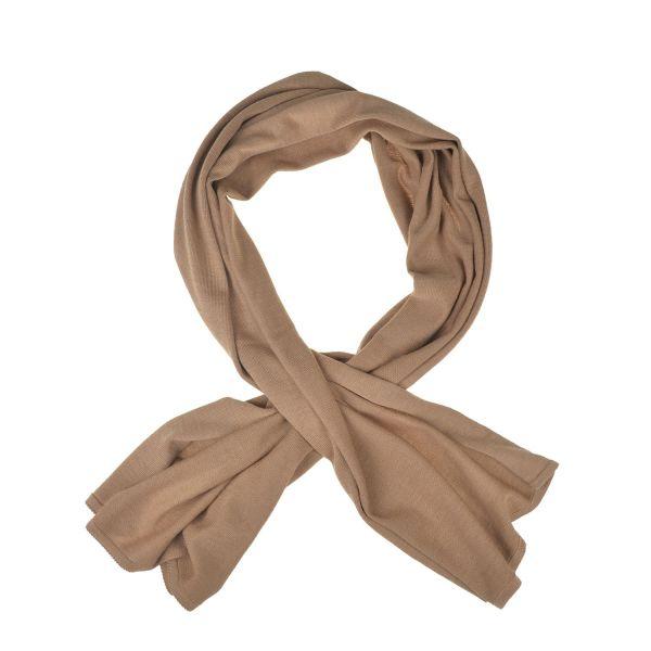 Schal aus 100% extrafeiner Merinowolle Camel