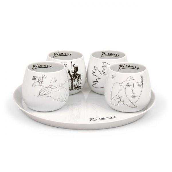 5-teiliges Tee-Set nach Pablo Picasso