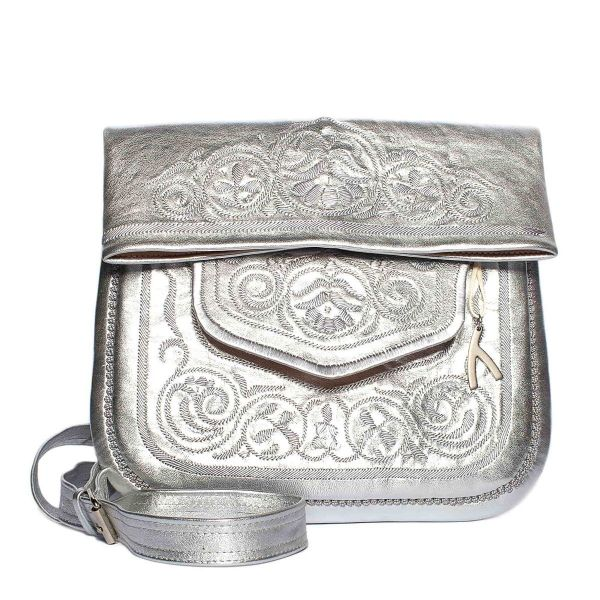 »Berber Bag« Tasche Groß Silber