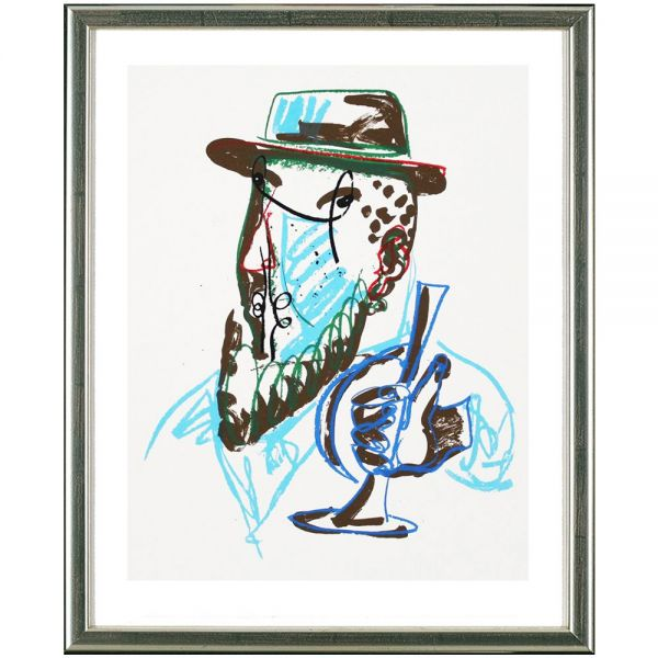 Lüpertz, Markus: »O.T., Mann mit blauer Trompete«, 2015