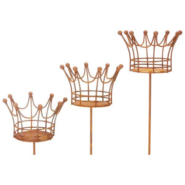 Kerzenhalter »Krone«, 3er Set
