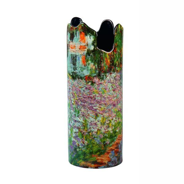 Porzellanvase »Irisbeet in Monets Garten«, nach Claude Monet