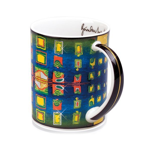 Magic Mug »Windows' Homesickness«, nach Friedensreich Hundertwasser