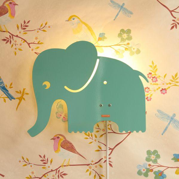 Wandlampen Für Kinderzimmer   Kinder Wandlampe Elefant Spielzeug Accessoires Kinderwelt